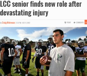 article about senior finding new role after devasting injury